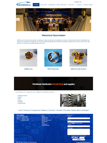 Aviation Custom Website Design