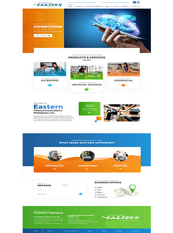 Communication website design companies