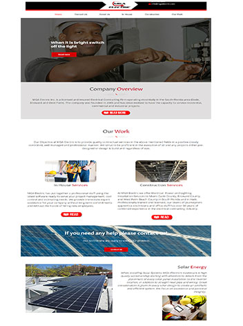 Construction custom website design