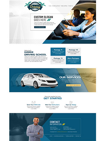 Driving school cheap website design services