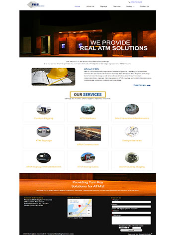 Financial Services Custom website design services