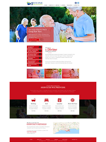 Health care website design services