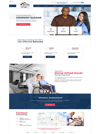 Home Health care services miami website design