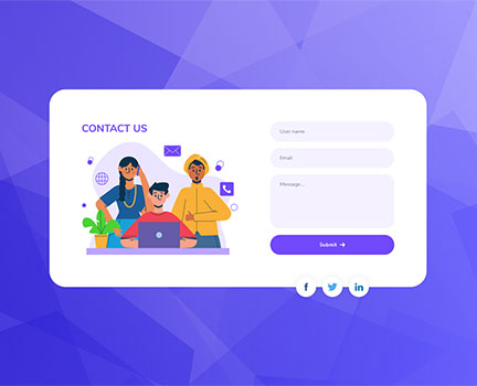 interactive contact us page plug in