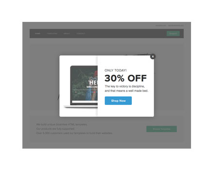 Website Popup plug-in