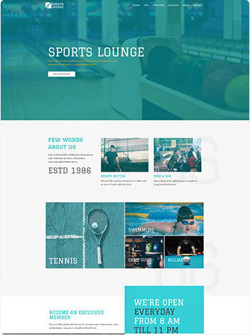 Sport website design services